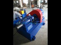 pipe embossing machine with the feeding machine - YouTube
