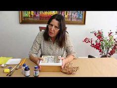 Técnica de papel Kraft e Betume - YouTube