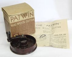 Patwin Vintage Rug Making Wool Cutter With Original Box Instructions
