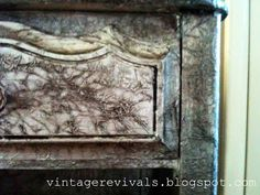 Vintage Revivals | Tin Foil Nightstand.