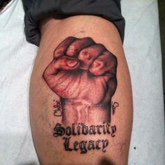 Solidarity Fist Tattoo
