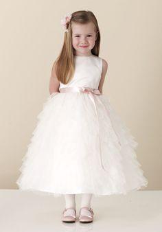 495bf086562 Funky Princess Customer-made Tea Length Hot Sale Ruffled Flower Girl Dress  White Pageant Dresses