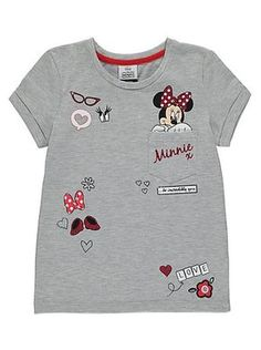 Disney Minnie Mouse Badge T-shirt, read reviews and buy online at George at ASDA. Shop from our latest range in Kids. This glittering Minnie Mouse tee is a w...