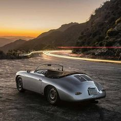 Porsche and the open road.