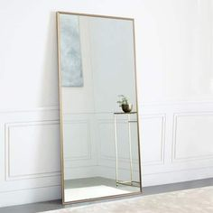 NeuType Full Length Mirror Standing Hanging or Leaning Against Wall, Large Rectangle Bedroom Mirror Floor Mirror Dressing Mirror Wall-Mounted Mirror, Aluminum Alloy Thin Frame, Full Body Mirror, Full Length Floor Mirror, Full Length Mirror In Bedroom, Gold Floor Mirror, Floor Standing Mirror, Full Length Mirror Rose Gold, Large Floor Mirrors, Large Bedroom Mirror, Gold Mirrors