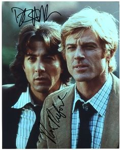 Robert Redford / Dustin Hoffman (All the President's Men) Autograph 8x10 Photo - Certificate of Authenticity Included - Please Read Our Service Pledge and Autograph Guarantee - $149