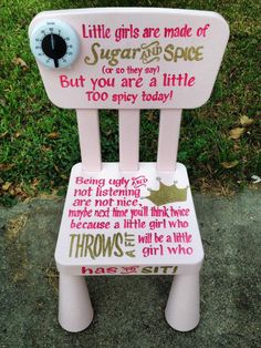 Time out chair. What do you think?Time out chair. What do you think? Baby Kind, My Baby Girl, Baby Love, Sassy Girl, Its A Girl, Baby Girl Stuff, Babies Stuff, Baby Girls, Time Out Chair