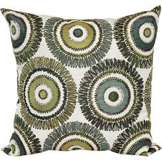 Better Homes and Gardens Green and Blue Circles Decorative Pillow