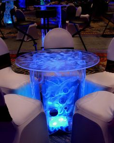 Rent Lighted Acrylic Cocktail Tables, Bars, Lounge Furniture LED