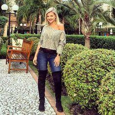 Botas de Strech Over the Knee você encontra na Adoro Presentes e ainda com precinhos super acessíveis! Confira, frete grátis para todo o Brasil!   #sylt #adoro #adoropresentes #lojavirtual #botas #botasover #overtheknee #modafeminina #boots #fashion #shoes