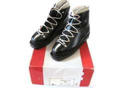 Image result for retro leather ski boots