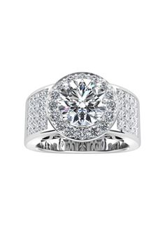 Sabet Platinum Diamond Setting #Engagement #Ring
