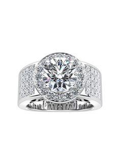 Sabet Platinum Diamond Setting #Engagement #Ring