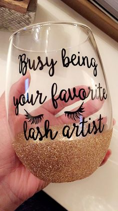 Eyelash extensions Wine Glass beauty esthetician