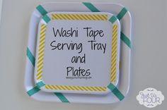 Washi Tape Serving Tray Upcycle #upcycle #washitape #crafts