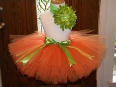 Tutu, Toddler Tutu, Halloween Lil' Pumpkin tutu for costume. $26.99, via Etsy.