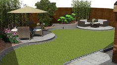 A curvaceous design was the order of the day for this Swindon property - Patio herb garden, Backyard garden design, Back garden design, Outdoor gardens design, Modern backy - Back Garden Design, Modern Garden Design, Backyard Garden Design, Garden Landscape Design, Backyard Landscaping, Landscaping Ideas, Terrace Garden, Back Gardens, Outdoor Gardens