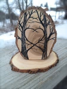 Image result for woodburning tree