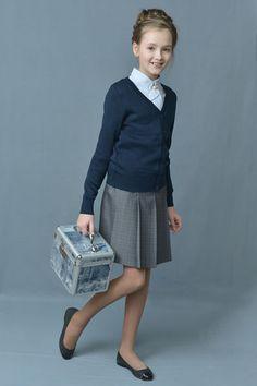 Knitted school uniform for girls 2014-2015