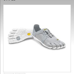 Vibram Five Fingers Brand new in box! Never worn! Size 39 women's equivalent to size US 8. Light grey/white color. SOLD OUT! Vibram Shoes