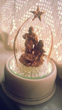 The SanFrancisco Music Box Company Nativity music box plays Silent Night  Collectible...Christmas gift for grandma