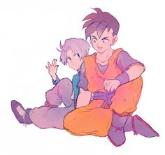 Teen trunks and Mirai Gohan - They were kinda like brothers, kinda sad what happens in the History of Trunks movie.