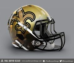 New Orleans Saints Helmet 2015