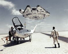 A NASA photograph, Jan 1969. The recent events with Star Wars VII (the X-wing revelation) and the 45th anniversary of the Moon landing prompted me to do something different. Celebrating both Star Wars and the Human Spacetravel, I added a little twist to this photo.