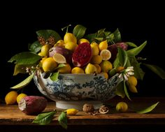 Paulette Tavormina creates stunning still life photographs with the rich look of Old Master oil paintings. Her works include Lemons and Prickly Pears, 2013