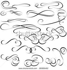 Calligraphic elements - black design elements