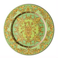 Rosenthal Versace 20 Years Plate Collection Wall Plate 'Green Floralia' 30 cm