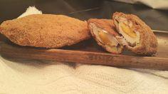 Supremas de pollo fritas, rellenas con queso cheddar aptas para celíacos! - Gluten Free