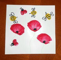 Activit manuelle peinture enfants b b coquelicots fleurs - Recyclage activite manuelle ...