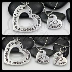 HandStamped Custom The Love Between A Mother by MyHeroCreations, $27.00