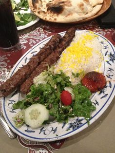 Persian Food-Beef Koobideh
