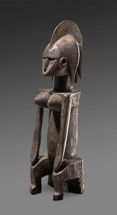 Africa | Seated figure from the Bambara people of Mali | Wood | 19th century