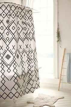 Magical Thinking Printed Boucherouite Shower Curtain
