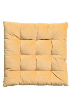 Aksamitna poduszka na krzesło - Żółty - HOME | H&M PL 1