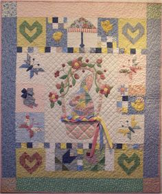 "Basket Bunny, 42 x 50"", pattern at Sew Many Visions"