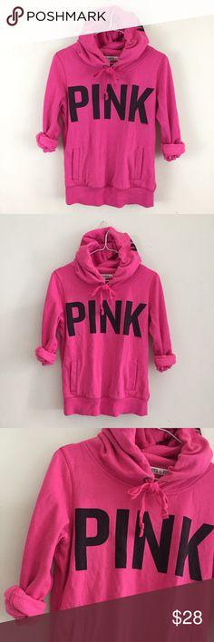 """VS PINK Hoodie Victoria's Secret """"I 💖 PINK"""" Hoodie. Size XS. PINK Victoria's Secret Tops Sweatshirts & Hoodies"""