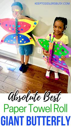 Paper Towel Roll Crafts: Giant Butterfly