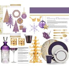 """A Purple and Gold Christmas.."" by vkevans on Polyvore"