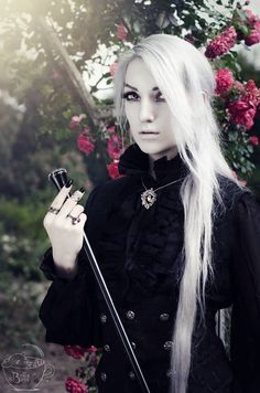 Model: Valentin Van Porcelaine Photo by Bella Bass Photography Outfit: Devilinspired Necklace: Nocturne Jewellery Walking cane: Alchemy Gothic Welcome to Gothic and Amazing | www.gothicandamazing.com