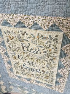 Kathy Schmitz Bees in the Bowers by QualityQuiltingByLoy on Etsy