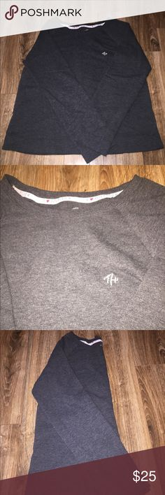 ⚪️Tommy Hilfiger Pajama/Lounging Top⚪️ Tommy Hilfiger Dark Grey Pajama/Lounge Top Great For Lounging or Sleeping 💤! Pairs well with Tommy Hilfiger Pajama/Lounging Pants Found in My Closet! Bundle and Save! Make an Offer! Tommy Hilfiger Intimates & Sleepwear Pajamas