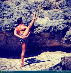"#Yoga Poses Around the World: ""Bird of Paradise Pose taken in Negirl, Jamaica by Addie J."""