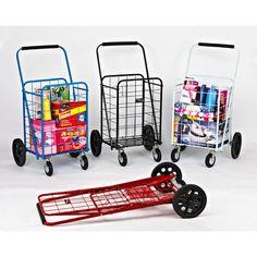 Sunny Super Swiveling Folding Metal Shopping Cart NAR-117