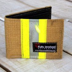 A FIREFIGHTER Turnout Wallet Made From TAN RECYCLED Bunker Gear Material