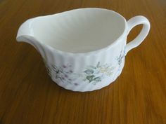 Minton porcelain Spring Valley milk Jug creamer blue yellow flowers made England