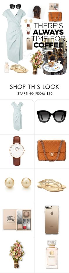 """""""Café Solitude"""" by kai-gn ❤ liked on Polyvore featuring Topshop, Gucci, Daniel Wellington, Chanel, Michael Kors, Burberry, Casetify, Tory Burch and vintage"""